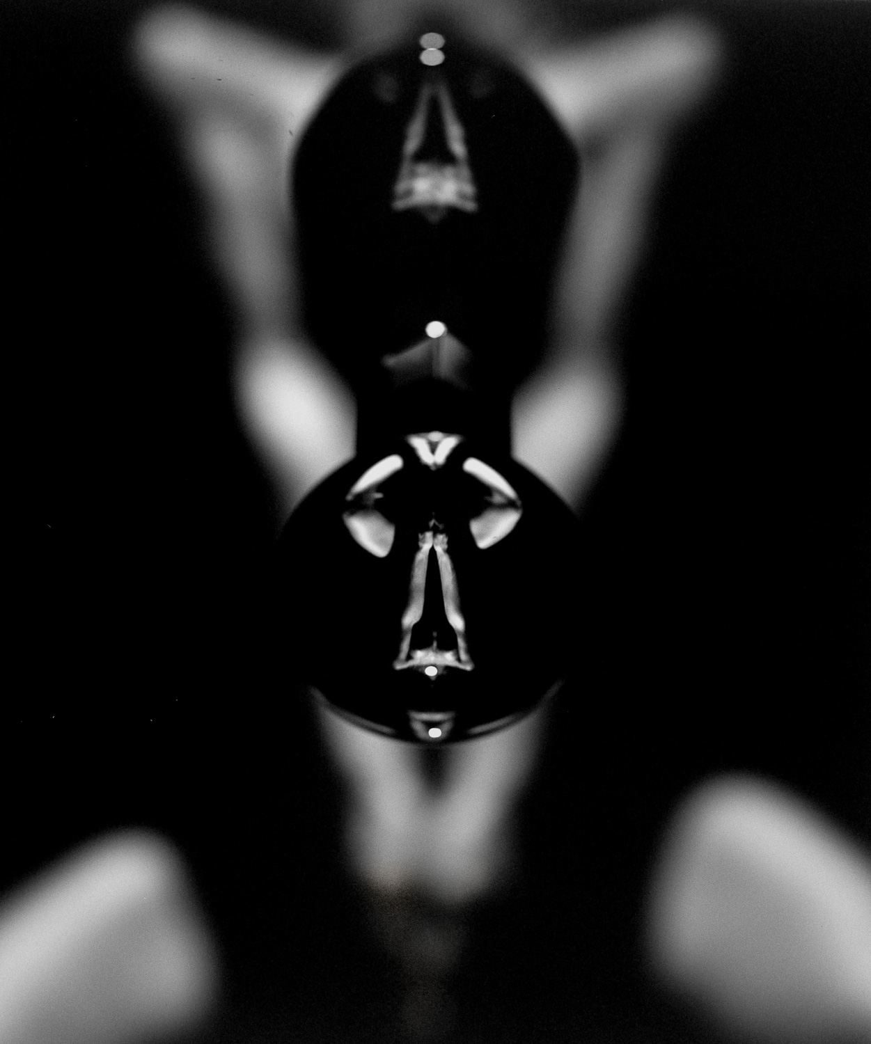 Black and white nudes, fine art photography, nude art prints, bw fine art, refraction, reflection, crystal ball, bubbles, breasts, abstract, art nudes